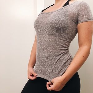 "WOMENS GREY ""FAVORITE T"" T-SHIRT"